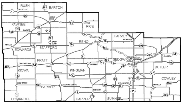 District 5: South Central Kansas on mndot road construction map, indot road construction map, kansas city road construction map, wisdot road construction map, modot road map, penndot road construction map, odot road construction map,
